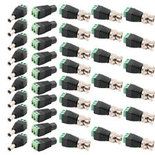40Pcs BNC Video Balun +Male Female DC Power Jack Plug Connector Adapter For CCTV