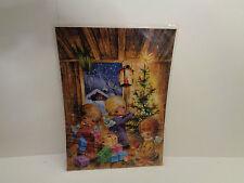 Vintage  Adventskalender J.+H. Adam Unter dem Weihnachtsbaum Nr.206