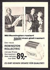 3w2310/ Alte Reklame von 1960 - Mit REMINGTON rasiert bleibt man glatt rasiert.