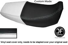 Black & White de vinilo personalizado SE AJUSTA a HONDA Xr 125 03-12 Dual Cubierta de asiento solamente