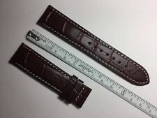 AUTHENTIC TISSOT NEW 20MM BROWN GENUINE CROCOGRAIN LEATHER STRAP BAND BRACELET