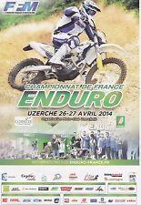 ENDURO - CHAMPIONNAT DE FRANCE 2014 UZERCHE DEPLIANT/ FOLDER PUBLICITAIRE