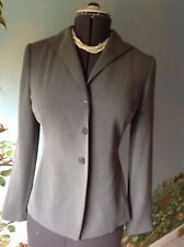 Ann Taylor Loft Long Sleeve Button Front Gray Suit Jacket Blazer Size 4
