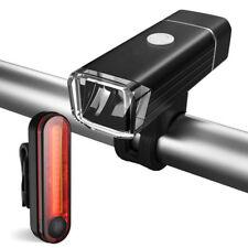 Bike Lights Degbit USB Rechargeable Light Set Mountain Cycle Bicycle Headlight