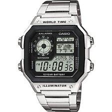 Orologi da polso casual con cronografo acciaio inossidabile