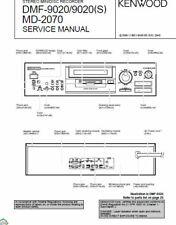 KENWOOD MD-2070 DMF-9020 DMF-9020(S) SERVICE MANUAL STEREO MINIDISC RECORDER