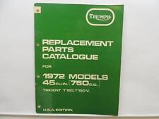 1972 Triumph Replacement Parts Catalog Trident T150 T150V Zener-Diode L10496