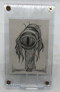 Encapsulated Autographed Star Wars sketch Card By Cathy Razim