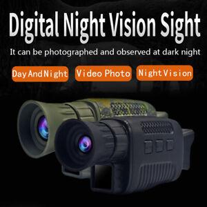 Monocular Infrared Night Vision Device Digital HD Camera Optics Telescope GO