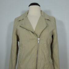CALVIN KLEIN JEANS Women's Short Beige Jacket, Zip Front size L