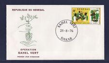 ASg/ Sénégal  enveloppe  1er jour  opération Sahel vert     1976