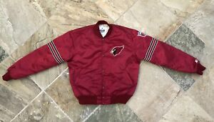 Vintage Arizona Cardinals Starter Satin Football Jacket, Size Large