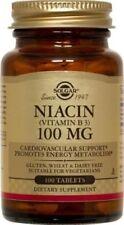 Niacin 100mg Solgar 100 Tabs
