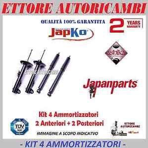 KIT 4 AMMORTIZZATORI JAPANPARTS FIAT NUOVA PANDA (169) 2003->2012 -JAPKO-ASHIKA