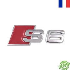 Logo Embleme Badge S6 Audi Coffre Hayon A6 V6 QUATTRO S-LINE NOIR Rouge