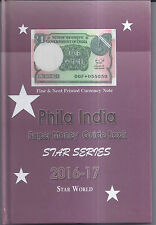 Phila India Paper Money Guide Book Star Series 2016 * STAR WORLD*