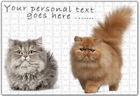 Personalised  Cat  Jigsaw Puzzle  Gift Add any Name and Text- ILVP1002 -2Designs
