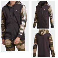 Adidas Originals Men Camouflage Full Zip Trefoil Sweatshirt Hoodie - 107