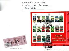 GB - FIRST DAY COVER - FDC - MINI SHEET - 2001 - Buses - Pmk Leyland, Lancashire