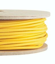YELLOW FABRIC CABLE - Twisted Lighting Cable Flex - Italian - Sold Per Metre
