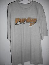 Purdue Boilermakers T-shirt Adult 2xl Short Sleeve Gray NCAA