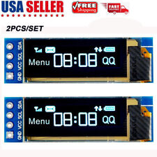 2pcs I2C OLED Display Module 0.91 Inch I2C SSD1306 OLED Display  DC 3.3V~5V