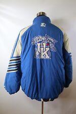 D02807 VTG STARTER Kentucky Wildcats Full-Zip Nylon NCAA Basketball Jacket 2XL