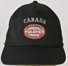 Hulcher Canada Black embroidered Baseball hat cap adjustable Snapback