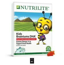 New amway Nutrilite Kids Brainiums DHA – fruit punch -NSF Certified- 112 Gummies