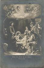 Weihnachten, Heilige Familie an der Krippe, Glückwunschkarte von 1942