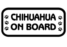 Chihuahua On Board Car, Van sticker, decal paw print