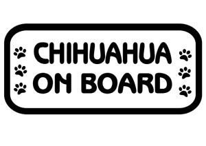 Chihuahua On Board Car, Van sticker, decal paw print