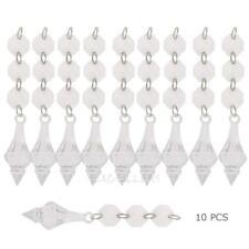 10pcs Acrylic Crystal Beads Garland Chandelier Hanging Wedding Party Decor E0Xc