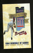 Greg Maddux--Atlanta Braves--1994 Pocket Schedule--Firestone