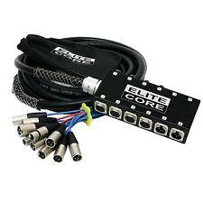 Elite Core 8 x 4 Channel 50' Pro Stage Audio XLR Mic Snake w/box Send/Returns