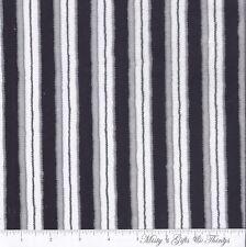Shannon Fabrics ~ Super Soft Cuddle Minky ~ Sporty Stripe ~ Black, White & Grey