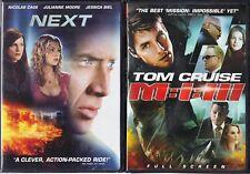 Next (DVD, 2007 WS) & MI-3 (DVD, Full Screen) -2 Action & Adventure