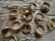 Simple Ring Gold Plate Adjust 10mm Glue ON (Pk 12) 0023
