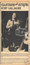 vintage 70's RORY GALLAGHER magazine PINUP blues guitar