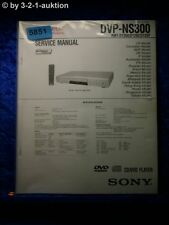 Sony Service Manual DVP NS300 CD/DVD Player (#5851)