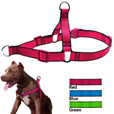 Nylon Front Clip No Pull Dog Harness and Leads No Choke Labrador Mastiff S-XL