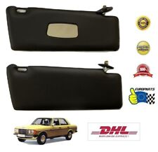 Mercedes-Benz W123 Sun Visors, Black, Leatherette, vanity mirror, DHL Shipping