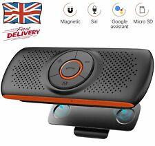 Bluetooth Car Speakerphone Sun Visor Handsfree Car Kit Audio Stereo Music Player