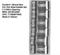 NEW 6 Saddles Fender Vintage Stratocaster chrome 0073915000