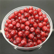30Pcs 8mm Double Color Glass Pearl Round Spacer Loose Beads Jewelry Making 8#69