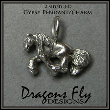 Gypsy Horse Pendant Equine Necklace Gypsy Cob Necklace Gypsy Vanner Jewelry