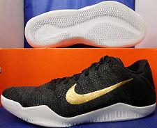 Nike Kobe XI 11 Elite Low Flyknit iD Black Gold White SZ 8 ( 835649-993 )