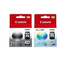 Canon 210 Black 211 Tri Color Bundle Ink Cartridges, New, Genuine,Retail Box