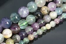 Genuine Natural Multicolor Fluorite Beads Grade AA Round Loose Beads 8/10MM