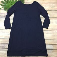 Soft Surroundings Long Sleeve Dress Size Xl Navy Blue Shift Straight Knee Length